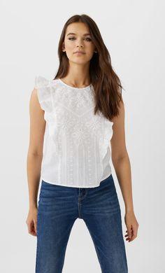 Top Bordado, Kazakhstan, Shirt Blouses, Women's Shirts, Blouses For Women, Basic Tank Top, Tank Tops, Clothes, Shopping