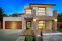 Many people would want to live in their own house. With that being said, not everyone could afford to buy their own house. For those of you who don't have a high income, you can try to rent a house. Two Story House Design, Best Modern House Design, Contemporary House Plans, Small House Design, Modern House Plans, Double Storey House Plans, Double Story House, Style At Home, House Plans South Africa