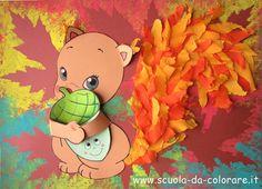 scoiattolo lavoretto autunno