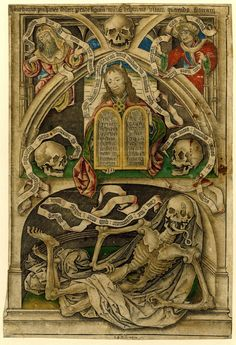 Allegory of The Transience of Life, 1480-1490 Engraving with hand color made by Master IAM of Zwolle, Netherlands.
