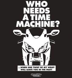 Time Machine T-Shirt — SportBike T-Shirts Store $19.99 #sportbike #motorcycle #apparel #tshirt #graphic #sport #bike #tee #design #shirt #casual #sportsbike #sport #bike #Honda #CBR1000RR #CBR