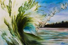 Green Room Punch, from Green room paintings.  Patrick creates amazing wave images.