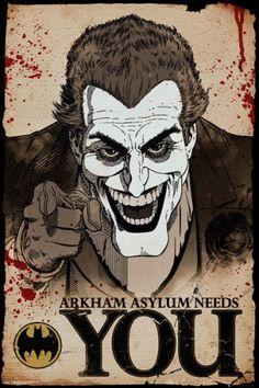 Poster BATMAN - Joker Needs You - http://rockagogo.com