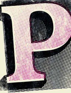 Typography  Pop Art P