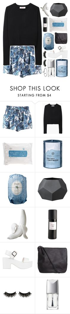 """BRAND NEW SOUNDS"" by glowing-eyes ❤ liked on Polyvore featuring Organic by John Patrick, Skyn Iceland, Chesapeake Bay Candle, Fresh, Bloomingville, Jonathan Adler, Eight & Bob, Soles, Pieces and Boohoo"