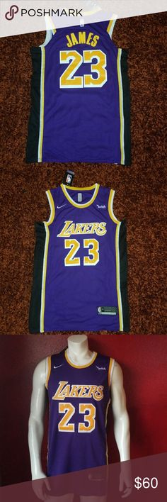 ff4cf70d8 STITCHED LEBRON JAMES LAKERS JERSEY Brand new Never used LEBRON JAMES LAKERS  BASKETBALL JERSEY STITCHED Same business day shipping Nike Shirts