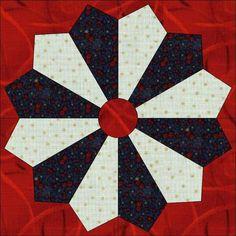 patriotic plate quilt block