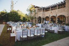 #outdoor-dinner-party  Photography: EP Love - eplove.info/blog/  Read More: http://www.stylemepretty.com/california-weddings/2014/06/16/elegant-beverly-hills-estate-wedding/