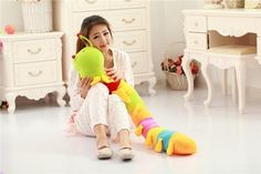 49.99$  Buy now - http://ali7l3.worldwells.pw/go.php?t=32355515998 - new creative Colorful caterpillar toy lovely plush Millipedes doll gift about 110cm
