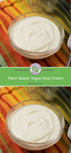You don't need dairy to enjoy plant-based sour cream. This version is perfect for topping baked potatoes, tacos or burritos and using in creamy dressings. Vegan Sour Cream, Nutritious Meals, Plant Based Recipes, Vegan Vegetarian, Dressings, Food Processor Recipes, Nutrition, Create, Cooking