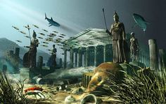 The Lost Island of Atlantis. One of the oldest mysteries in the world, the legend of Atlantis has mystified humanity since ancient times Tsunami, Modern Talking, Sunken City, Mysteries Of The World, Unexplained Mysteries, Unexplained Phenomena, Mystery Of History, Lost City, Stargate