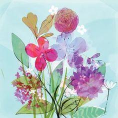 Purple Blooms Card