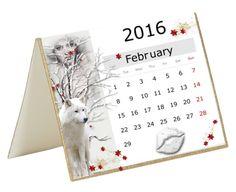 """February 2016 Calendar"" by falticska-cerasella ❤ liked on Polyvore featuring art"