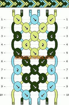 Normal friendship bracelet pattern added by irishdance. String Bracelet Patterns, Diy Bracelets With String, Yarn Bracelets, Diy Bracelets Easy, Embroidery Bracelets, Bracelet Crafts, Silver Bracelets, Silver Ring, Diy Embroidery