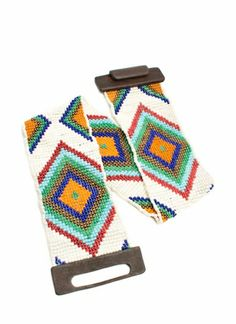 Stretchy Wide Tribal Beaded Belt