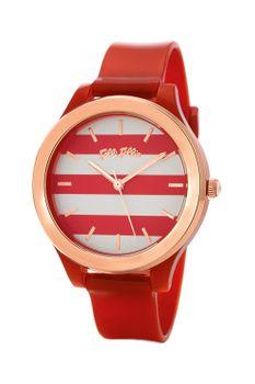 Folli Follie, Club Riviera műanyag szíjas karóra, Piros Chronograph, Watches, Leather, Accessories, Wristwatches, Clocks, Jewelry Accessories
