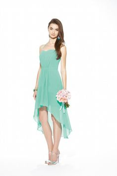 Halter Sweetheart Neckline Fitted Bodice High Low Chiffon Dress