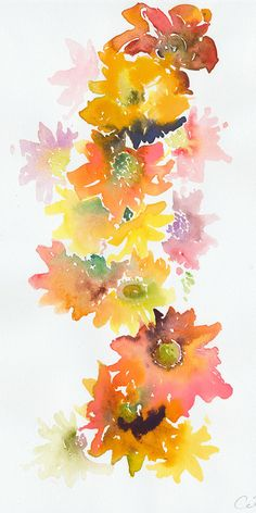 Original Watercolor Painting Watercolour by silverridgestudio, $95.00