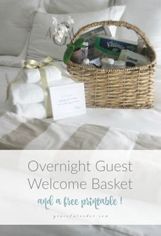 Overnight Guest Welcome Basket - Graceful Order