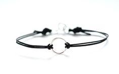 Image of Leather Circle Karma Bracelet
