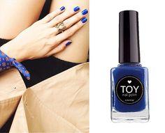 DEEP BLUE by TOY nail polish Deep Blue, Nail Polish, Nail Art, Toys, Nails, Beauty, Activity Toys, Finger Nails, Ongles