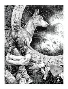 Illustrations to Ania Kirillova's novel «Big Height» on Behance