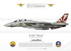 F-14 Tomcat, Kitty Hawk, Color Profile, Warfare, Fighter Jets, Aircraft, Navy, Artwork, Airplanes