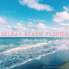 As much as I love to travel and get the most out of places, I also love to just go on vacation. My family has been going on vacation to Delray Beach, Florida for generations… View Post