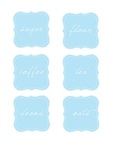 [ Printables Resource (FREE) : Jar Labels ] ~ from sissyprint.blogspot.com