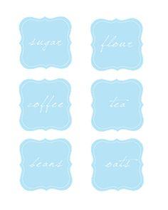 [ Printables Resource (FREE) : Jar Labels ] ~ from sissyprint.blogspot.com