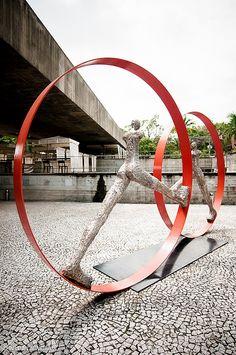 MuBE - Museu Brasileiro da Escultura  (Brazilian Museum of Sculpture)    Architect: Paulo Mendes da Rocha  Photo: Willian Silveira