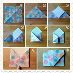 Origami envelope facile et rapide à faire