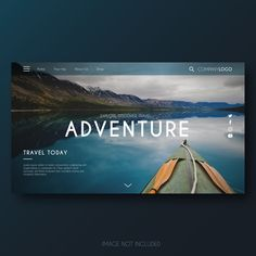 Modern adventure landing page Vector Magazine Design Inspiration, Web Design Inspiration, Minimal Web Design, Flat Design, Graphic Design, Full Frame, Travel Website Design, Best Travel Websites, Creative Web Design