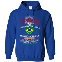 Live in CANADA, Made In INDIA, Heart Belongs BRAZIL T Shirts, Hoodies. Get it here ==► https://www.sunfrog.com/States/Live-in-CANADA-Made-In-INDIA-Heart-Belongs-BRAZIL-4936-RoyalBlue-Hoodie.html?57074 $39