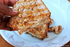 Honey Walnut-Crusted Aged Cheddar Panini…and Scenes from Seattle
