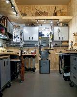 Wood working shop set up