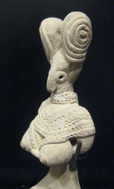 Indus Valley Terracotta Female Figurine, Pakistan/Western India Circa: 3000 to 2000 BCE