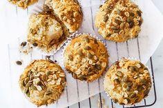 Oaty apple muffins