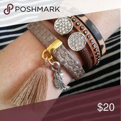 Genuine leather bracelet Very pretty brand new bracelet. Genuine leather, charms, leopard print. Nwot Jewelry Bracelets