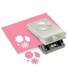 Large EK Success Slim Paper Punch Flowers & Leaves  0.75 to 1 inches (Punched image)