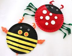 Paper Plate Insects