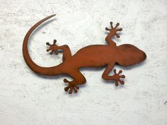 Lizard Gecko metal wall art - 20 long - choose your color with rust patina - lizard art gecko art wall art Gecko Squamata Gekkonidae metal