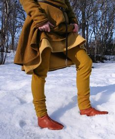 Thorsberg pants worn like thermal underwear under women's clothing for warmth in the winter.