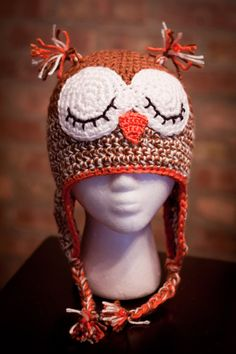 Owl knit hat. If someone can make me this I will love you forever!!!