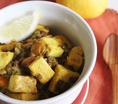tofu e lenticchie alle spezie