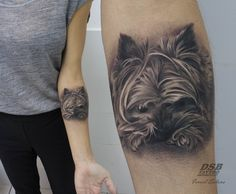 #tattoo #dog #puppy #portrait #yorkshire #realism