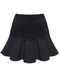 Exquisite Patchwork Plain Mini-skirts