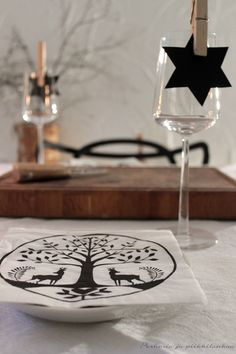table setting, kitchen, place card