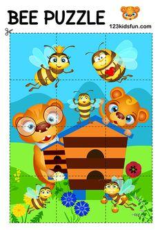 Bee game - Free Printables | 123 Kids Fun Apps