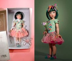 "Helen Kish Doll 12"" OLIVIA  PRIMAVERA green  LE50"